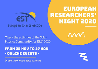 European Researchers' Night 2020: EST goes online