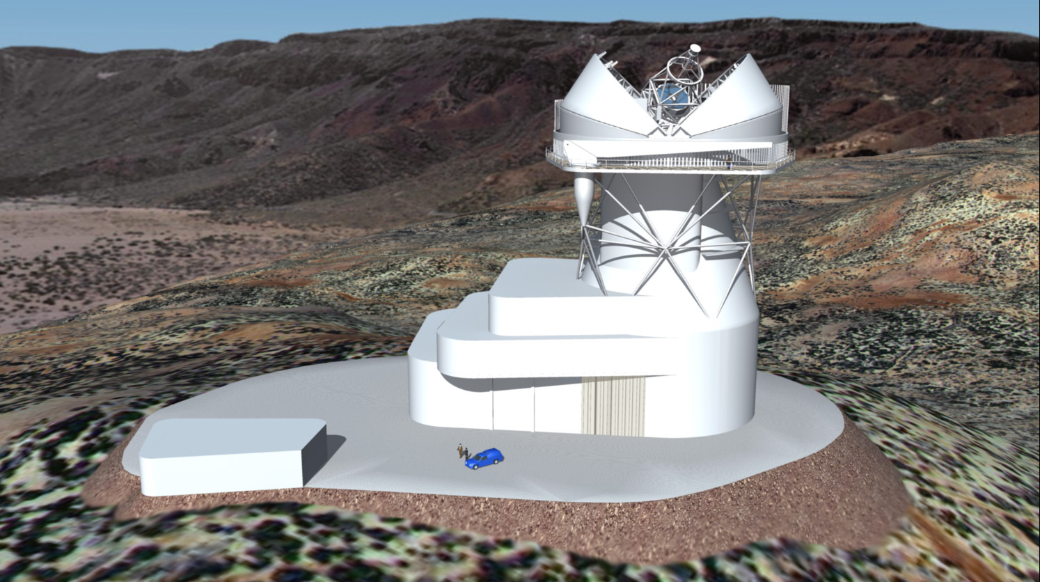 Image simulation of the European Solar Telescope final look